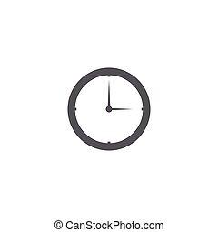 icône, temps, concept