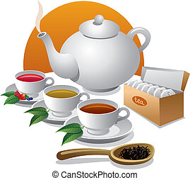 icône, thé