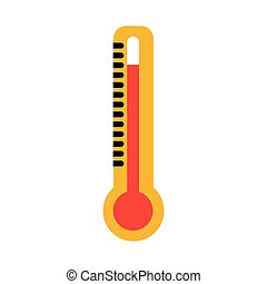 icône, thermomètre, température, mesure