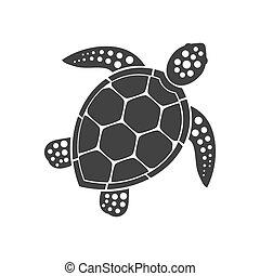 icône, tortue mer