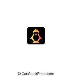 icône, vecteur, logo, manchots