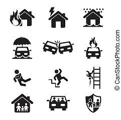 icônes, assurance