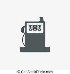 icônes, batterie, signe, station, lustré, carburant, &