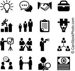 icônes, business