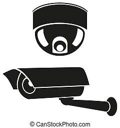 icônes, cameras, surveillance
