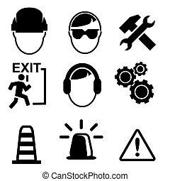 icônes, construction, isolé, ensemble, vecteur, fond, blanc