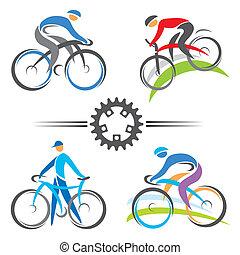 icônes, cyclisme