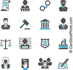icônes, droit & loi, ensemble