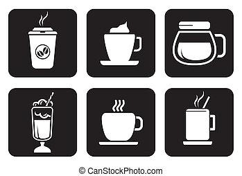 icônes, ensemble café