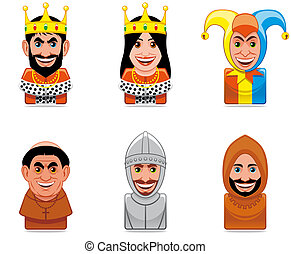 icônes, gens, ages), avatar, (middle