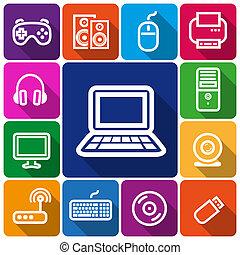 icônes, informatique
