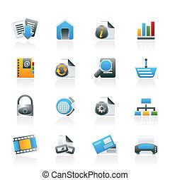 icônes, internet web, site