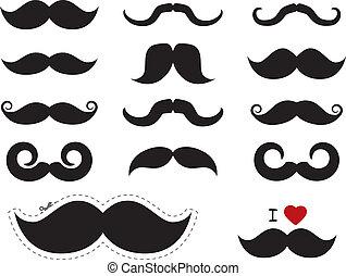 icônes, -, /, movember, moustache, moustache