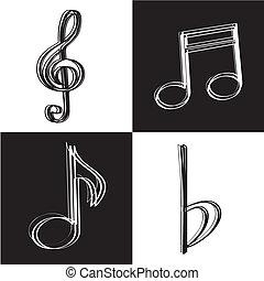 icônes, musique