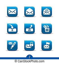icônes, no.7..smooth, courrier, série