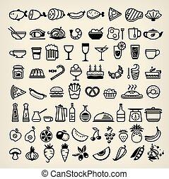 icônes, nourriture