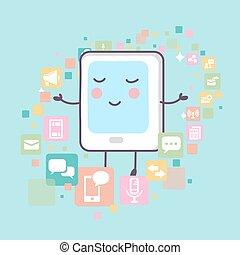 icônes, pc tablette