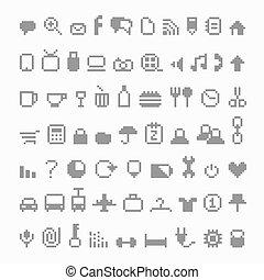 icônes, pixel