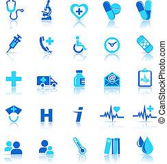 icônes, soin, santé