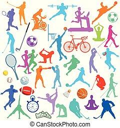 icônes, sportliche