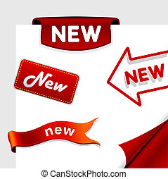icônes, stickers., ensemble, étiquettes, vente