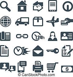 icônes toile, mobile, site, app., ou