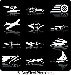 icônes, vitesse