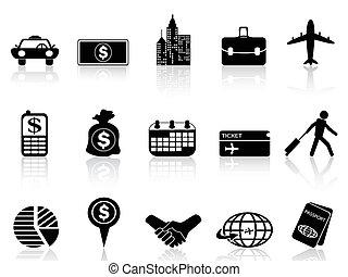 icônes, voyage, business