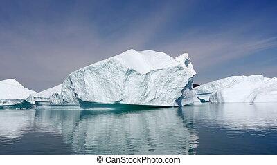 iceberg, groenland, fjord