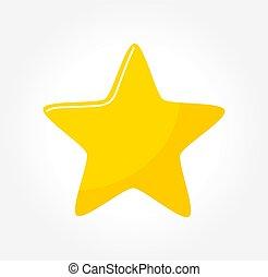 icon., étoile, jaune