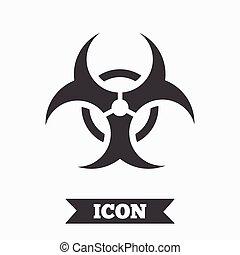 icon., biohazard, signe, symbole., danger