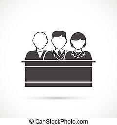 icon., jury, assize