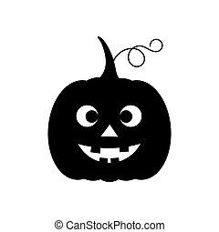 icon., noir, o, rigolote, halloween, cric, citrouille, lanterne