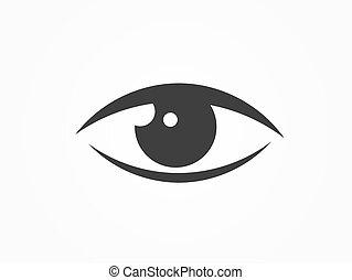 icon., noir oeil
