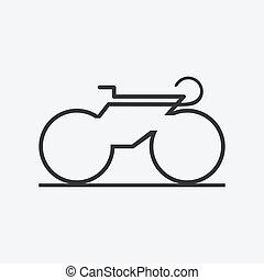 icon., vélo, minimalistic