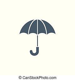 icon., vecteur, parapluie, apparenté, glyph