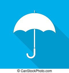icon., vecteur, parapluie, illustration