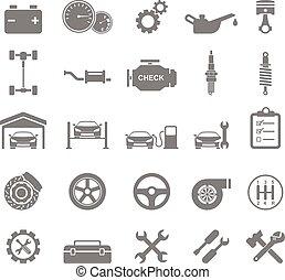 icons., vecteur, auto