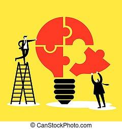 idée, concept, collaboration