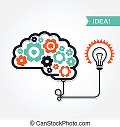 idée, invention, icône, business, ou