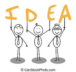 idée, texte, groupe