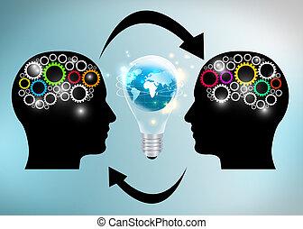 idées, échange