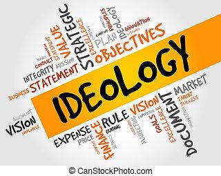idéologie, mot, nuage