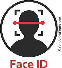 id, figure, icône, scanner, simple