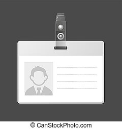 id, vecteur, identification, vide, écusson, template., carte
