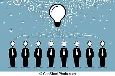 idea., professionnels, créer, esprits, mieux, leur, idées, pensées, combiner, plus grand
