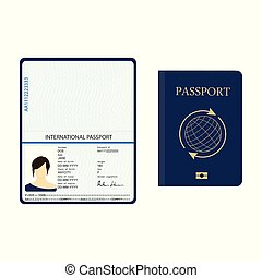 identification, passeport, document