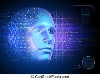 identité, personnel, mondiale, virtuel