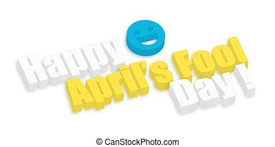 idiot, texte, avril, heureux, jour, 3d