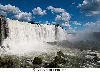 iguazu, waterfalls., brésil, amérique, sud, argentine